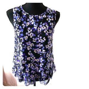 Kate Spade NWT Hydrangea sleeveless top purple XS